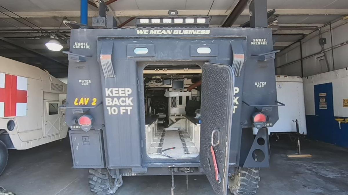 Scott County Sheriff's Department receives two Light Armored Vehicles from military surplus program