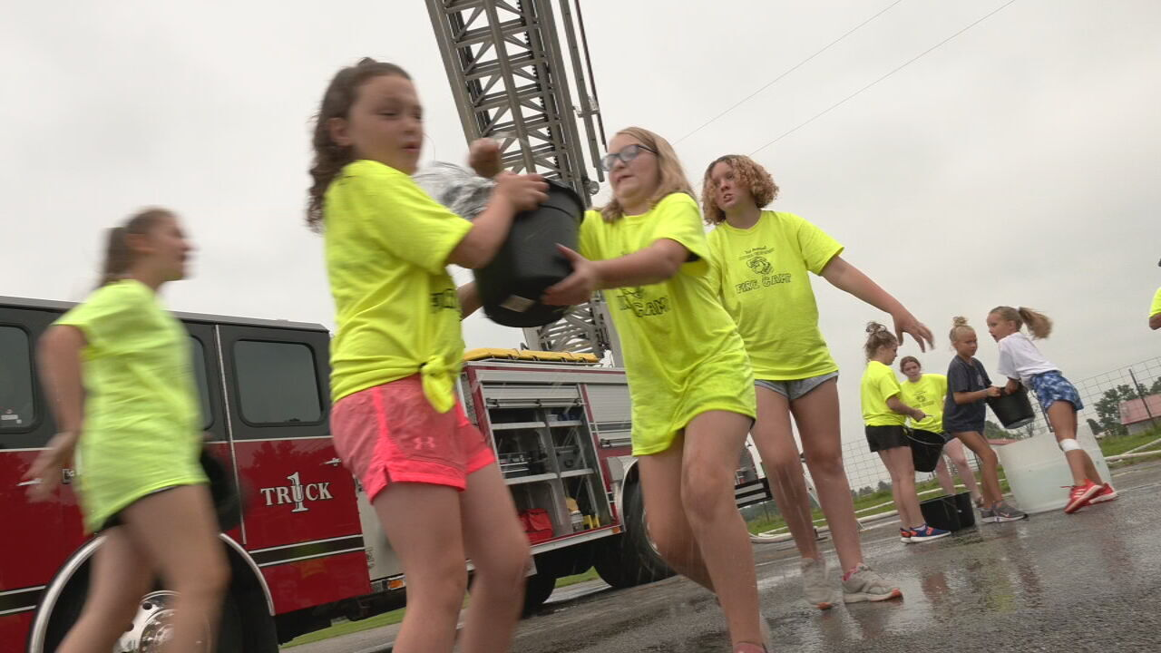 Scottsburg Fire summer camp shows kids the serious and fun side of firefighting