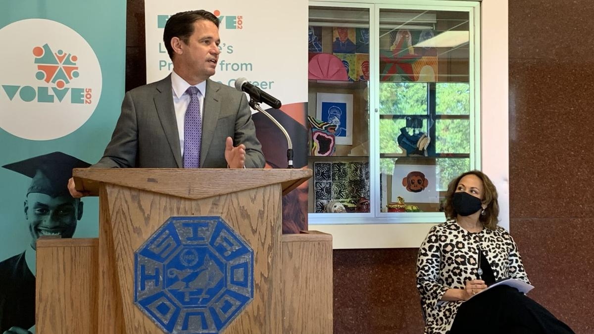 JCPS Superintendent Marty Pollio and Evolve502 Marland Cole 04-19-21.jpg