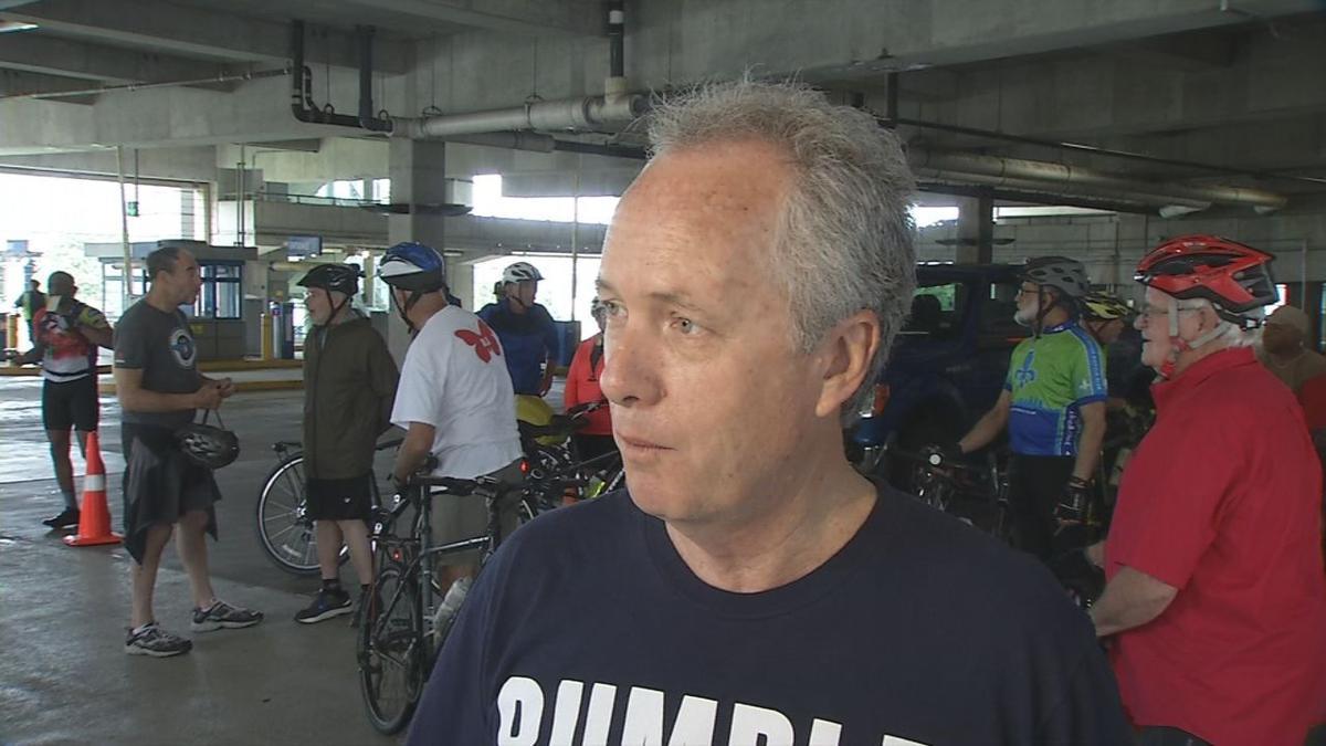 Louisville Mayor Greg Fischer at the Ali Memorial Bike Ride