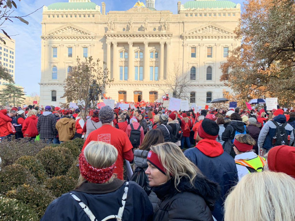 GO RED FOR ED - Teachers in front of Capitol.jpg