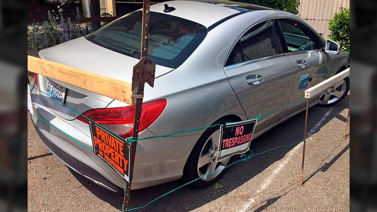 Seattle Man Builds Fence Around Car via KOMO