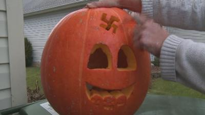 Georgetown, Ky. couple says they woke up to find swastika carved into their pumpkin