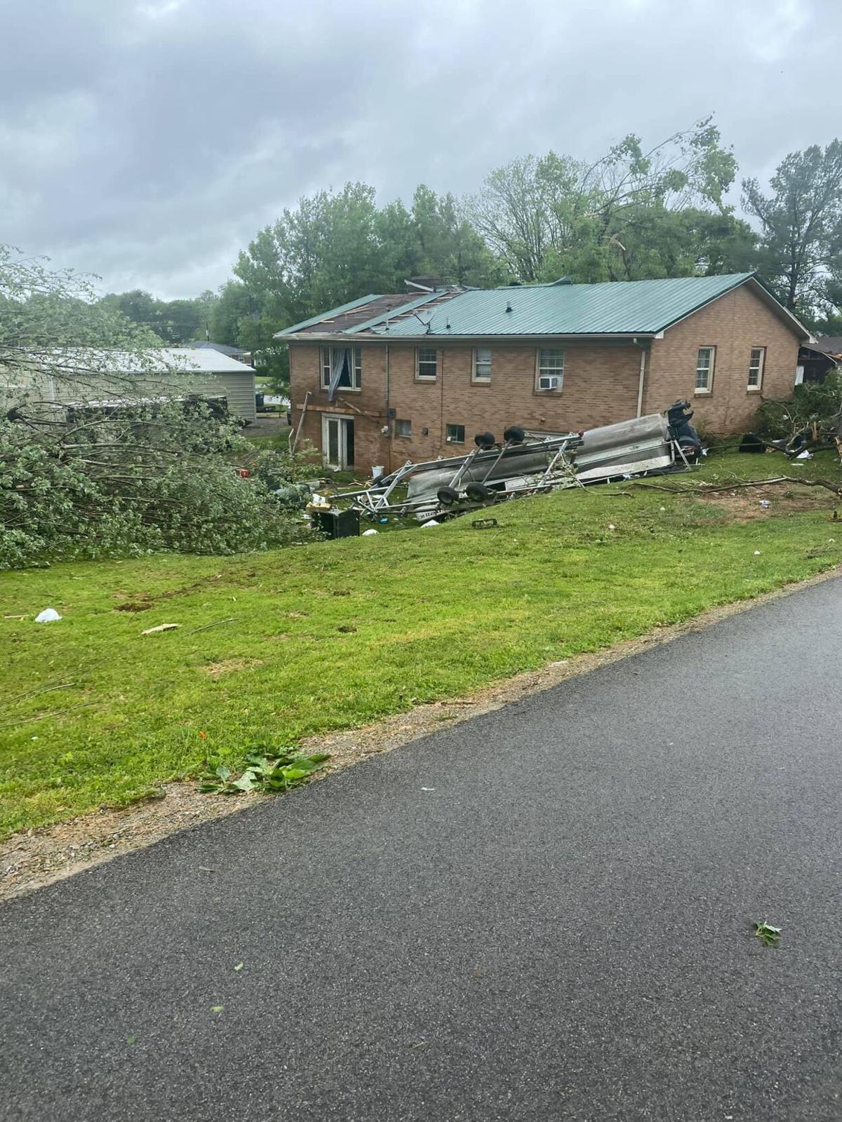 Tompkinsville, Kentucky, storm damage 5-3-2021