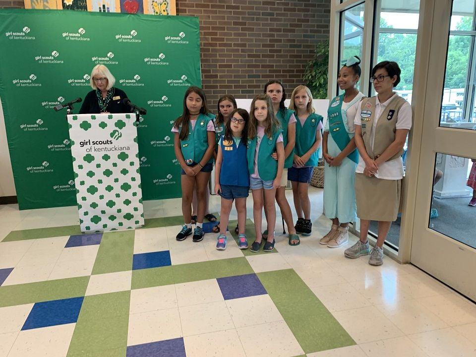 UPS donates money to Girl Scout of Kentuckiana 7-31-19 2