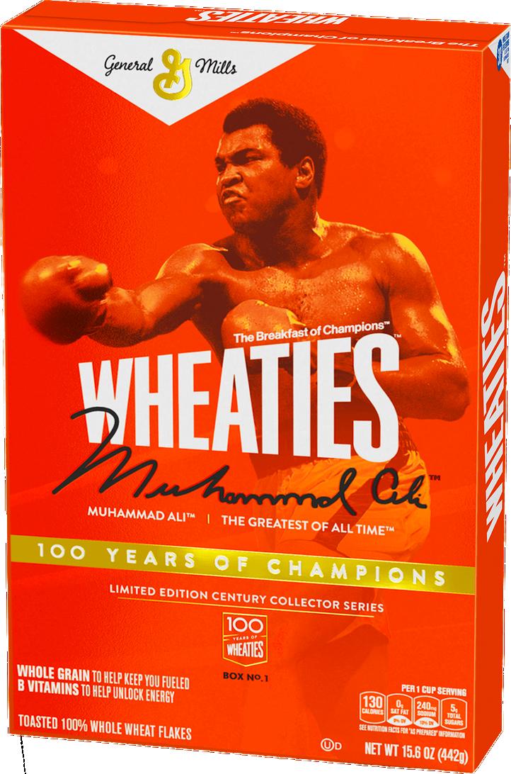 Muhammad Ali on Wheaties box