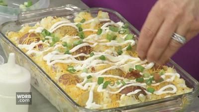 Loaded potato casserole, cake mix dinner rolls and Carrot Poke Cake help celebrate Easter
