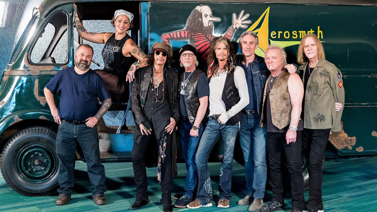 Aerosmith and Pickers in front of Van