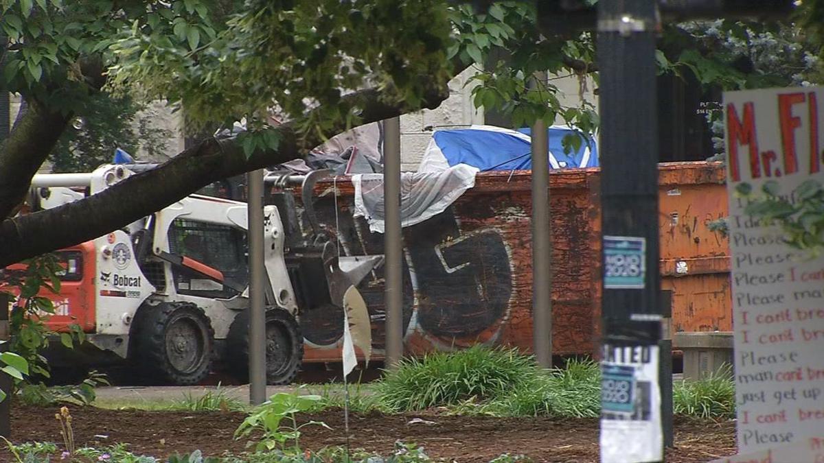 Jefferson Square Park cleanup
