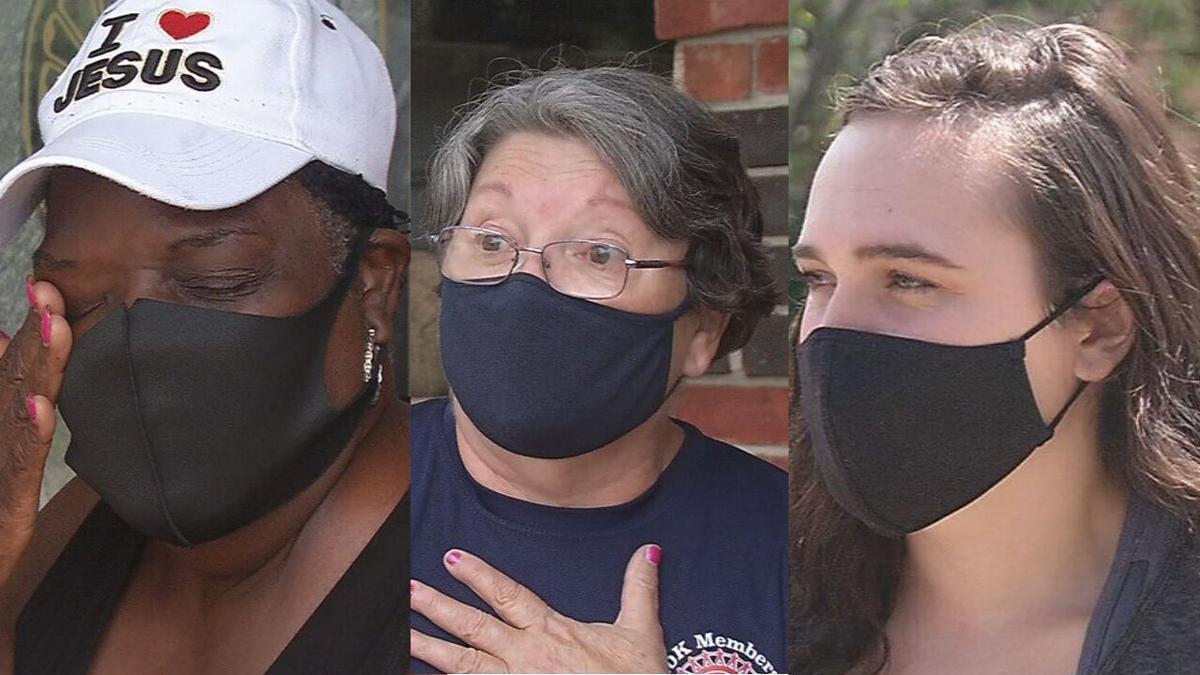 Lamar Hampton, Martha Jefferson and 'Abby' - Carjacking victims
