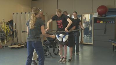 U of L research has paralyzed patients learning to stand and walk