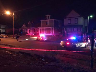 Olive Street stabbing scene