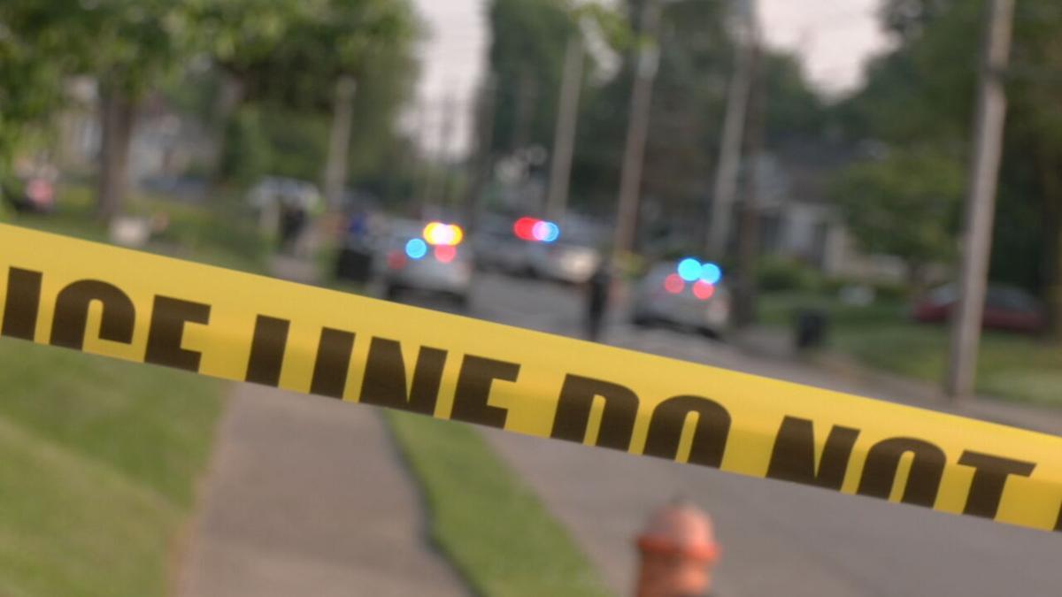 Crime scene tape in Louisville