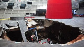Sinkhole swallows eight cars at Corvette Museum