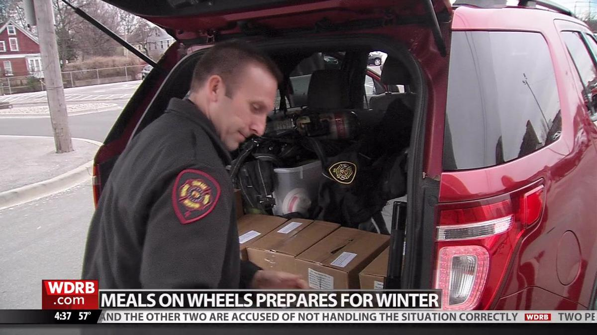 LMPD and firefighters team up with Meals on Wheels to deliver shelf-stable meals