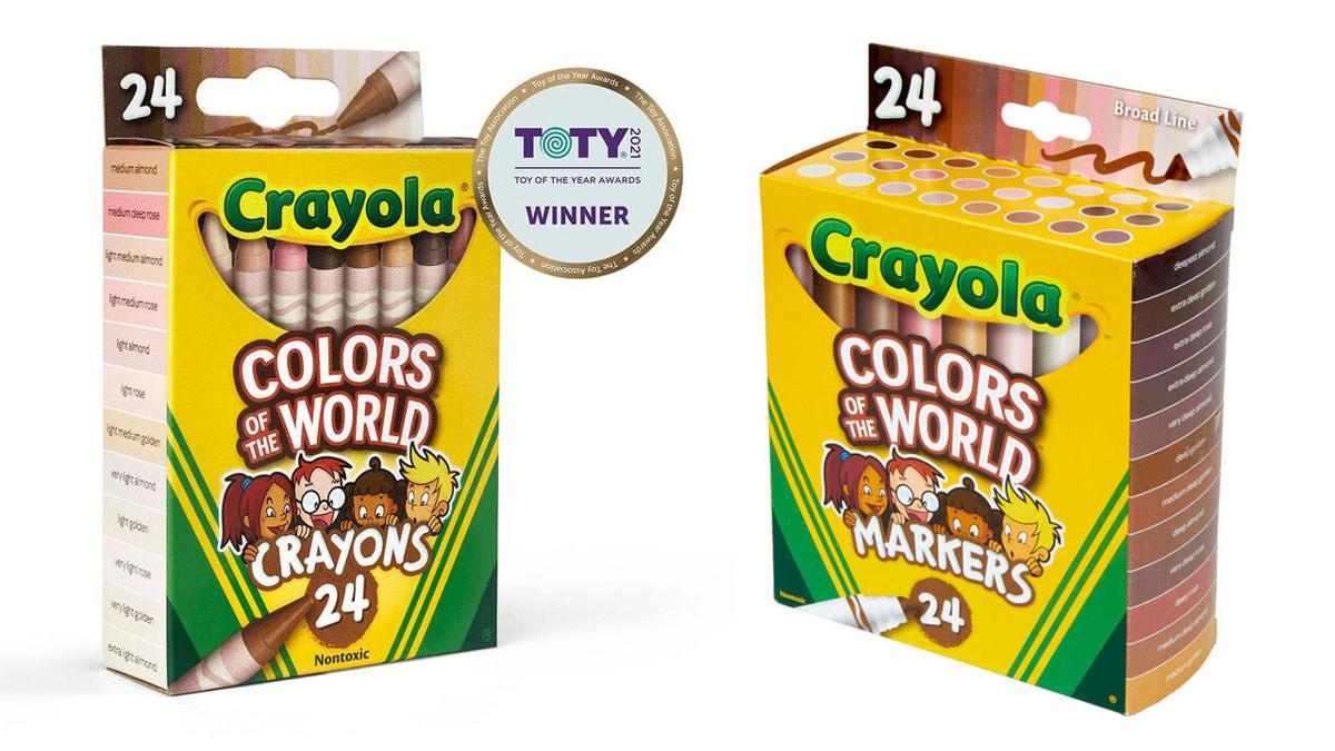 Crayola 'Colors of the World' crayons and markers