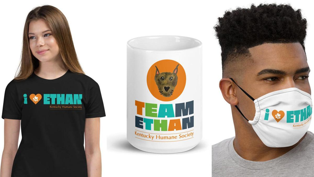 'Team Ethan' merchandise from the Kentucky Humane Society
