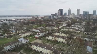 Louisville drone aerial - Beecher Terrace