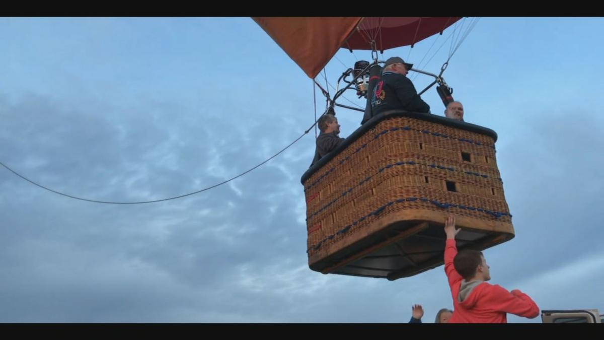 Tina Lanham hot air balloon takeoff 1