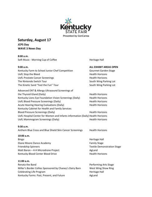 Kentucky State Fair - Saturday, Aug  17 | | wdrb com