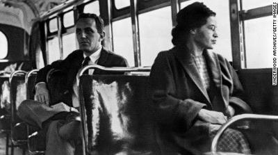 Rosa Parks on bus CNN pic