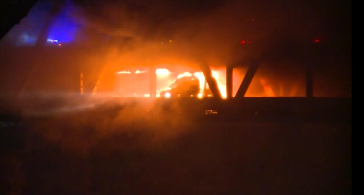 Fire on Brent Spence Bridge