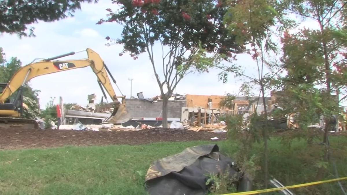 Aftermath of explosion of KFC in North Carolina