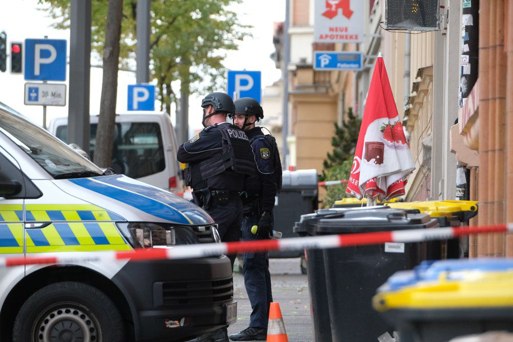 Halle Germany Shooting - police