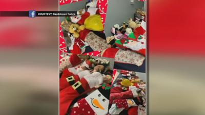 Santa's Elves at Bardstown Police Department