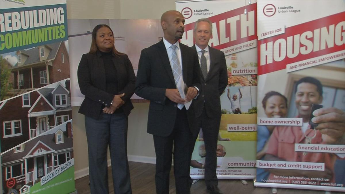 3-5-19 announcement on affordable apartments by Urban League and Rebound