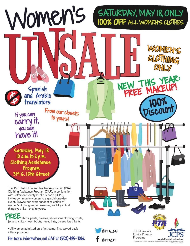 Women's Unsale flyer