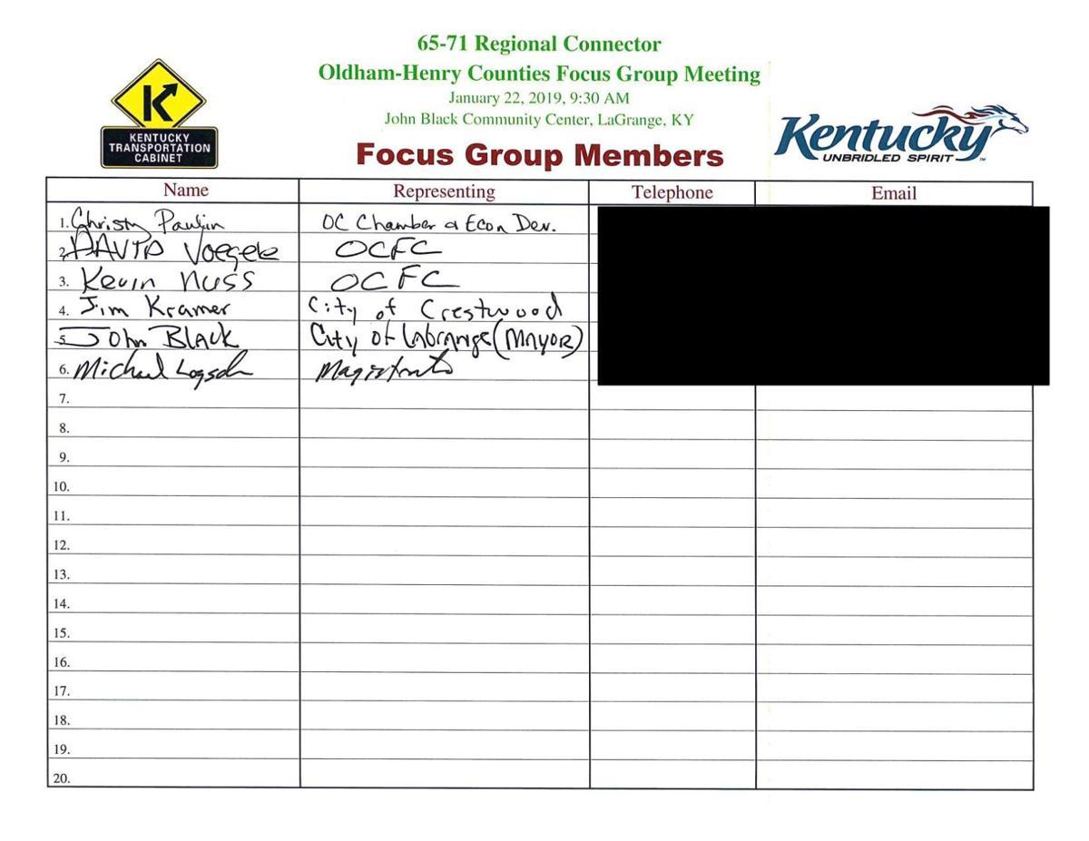 I-65 I-71 'Regional Connector' focus groups