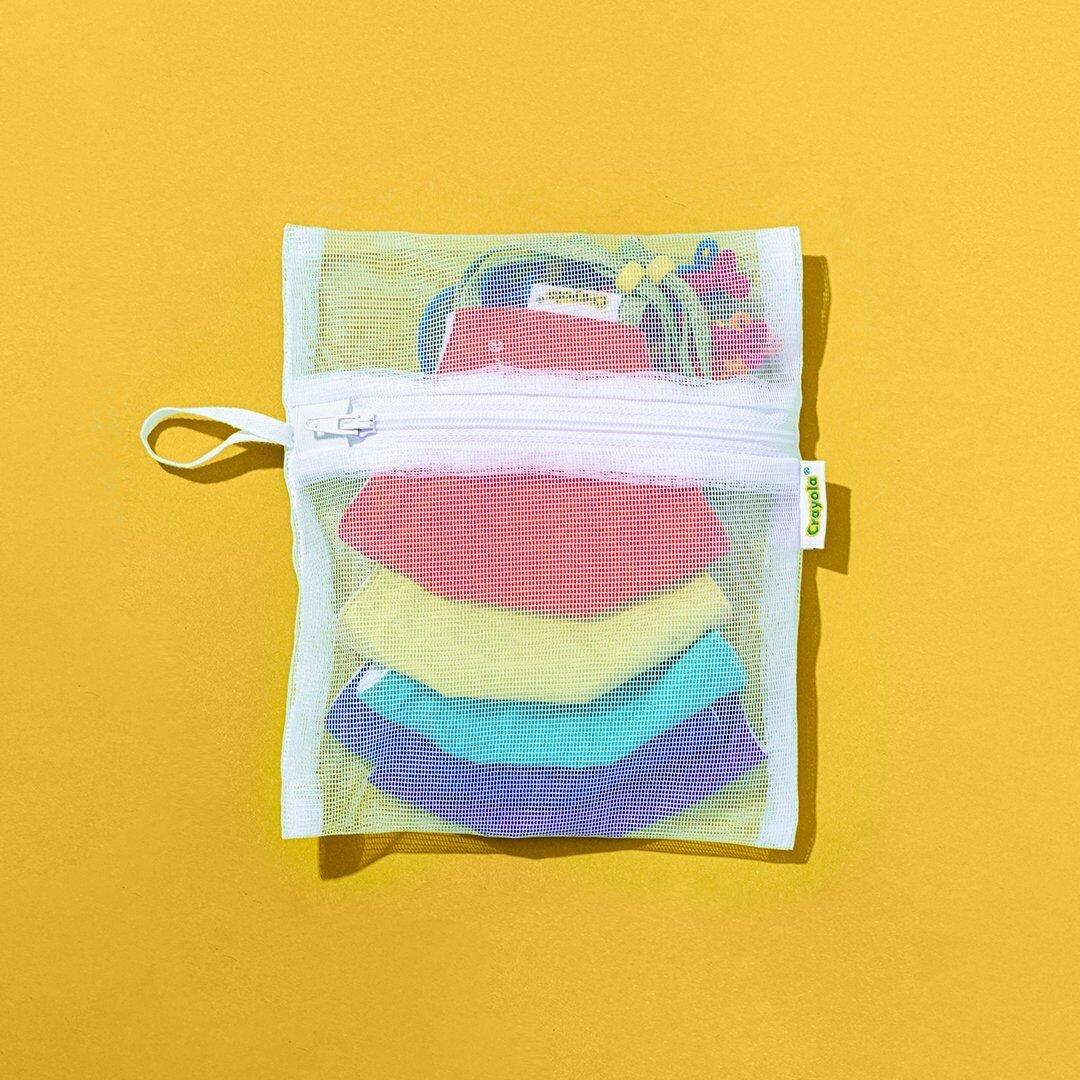 Crayola Face Masks in laundry mesh bag