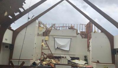 Storm damage to Mt. Zion Church in Paducah, Ky. 3-14-19