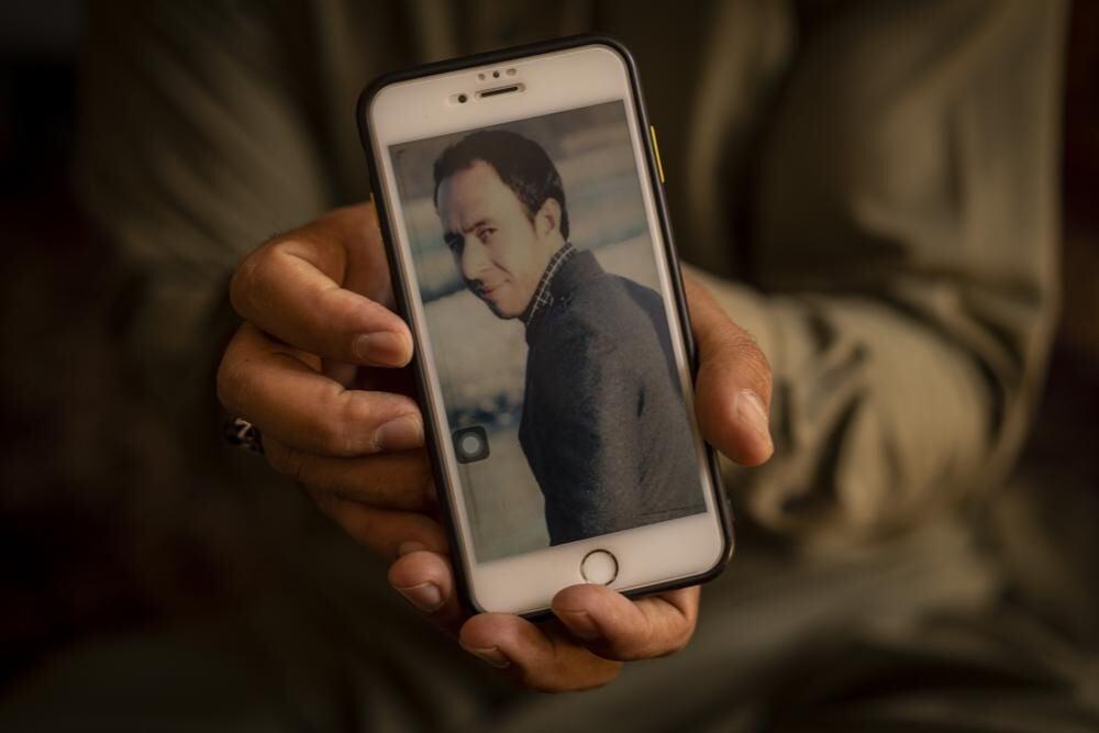 Amal Ahmadi picture slain brother Zemerai Ahmadi