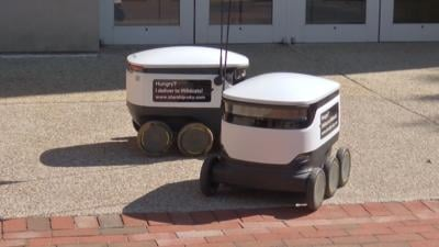 Starship food delivery robots at the University of Kentucky