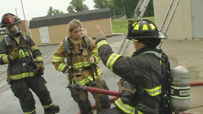 GINA ON THE JOB: Gina catches heat as a Jeffersonville firefighter