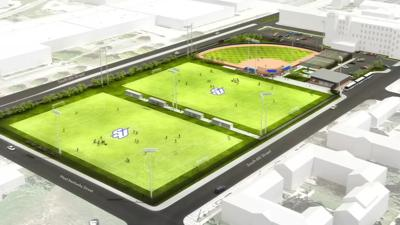 Spalding Sports Complex Rendering