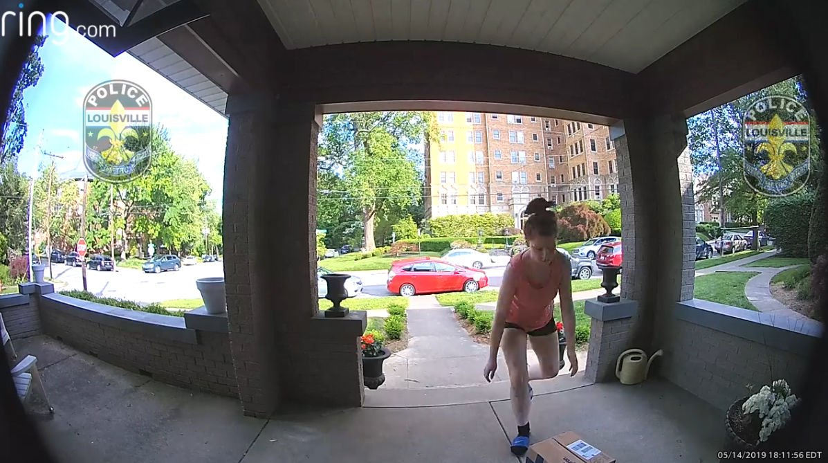 LMPD asking for public's help to find porch pirate who