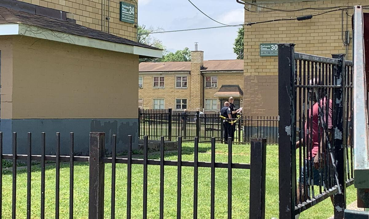 May 27, 2021 shooting scene in the 1600 block of S. 11th Street, near Moore Court