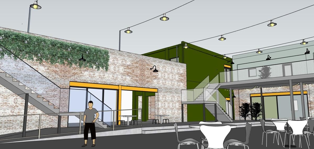 Renderings of West Sixth Brewing at Nulu Marketplace