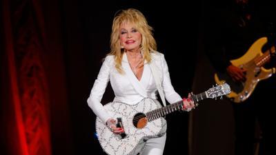 Dolly Parton in white