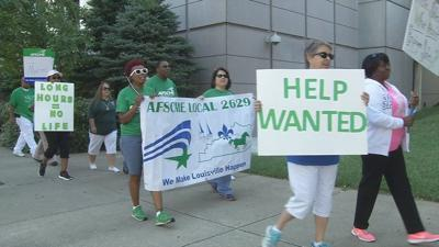 Union protests poor treatment and mandatory overtime at Louisville's juvenile jail