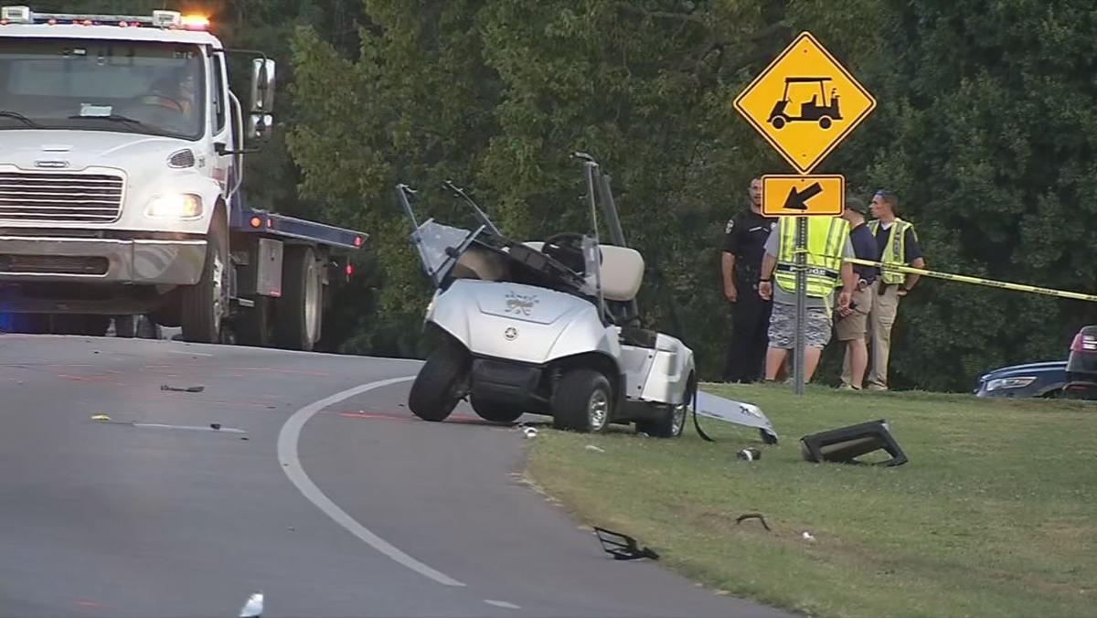 Seneca Golf Club golf cart crash scene.jpg