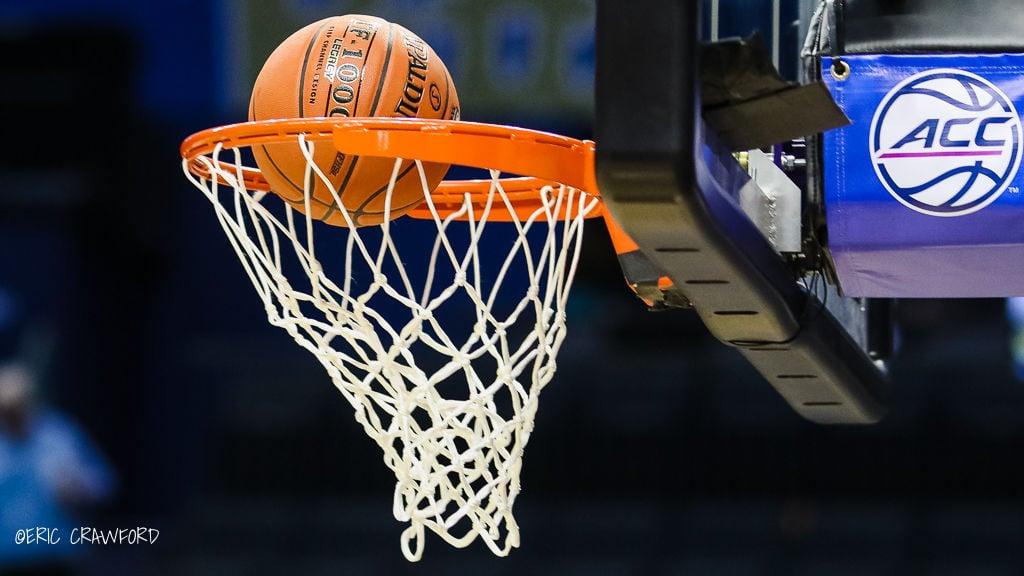 Basketball and hoop