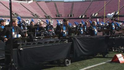 """High School """"Battle of the Bands"""" takes over Cardinal stadium"""
