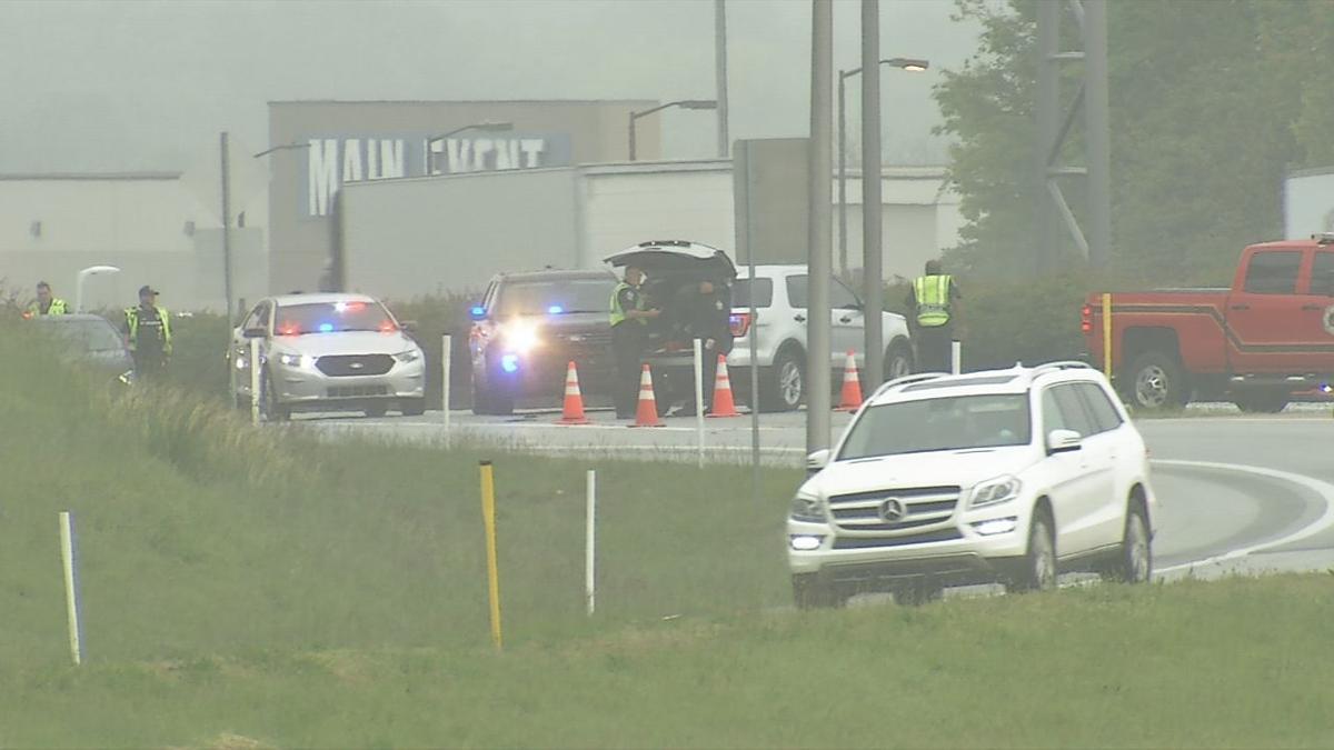 Scene of fatal May 13, 2020 crash on I-64 near Blankenbaker