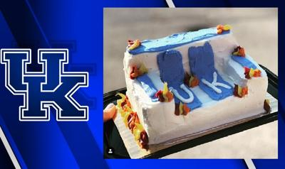 Remarkable Uk Burning Couch Cakes A Hit With Basketball Fans In Lexington Funny Birthday Cards Online Overcheapnameinfo