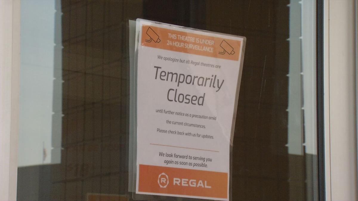 Regal Cinemas closed sign