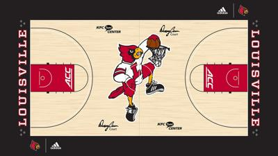 KFC Yum Center basketball court